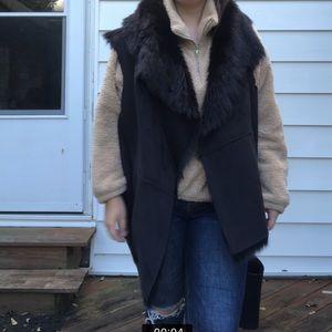 Plus-size 3xl DKNY jeans fur vest